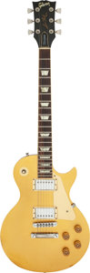 Musical Instruments:Electric Guitars, 1981 Gibson Les Paul Goldtop Solid Body Electric Guitar, Serial #81261521.. ...