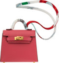"Luxury Accessories:Accessories, Hermès 6.5cm Rose Lipstick Tadelakt Leather Kelly Bag Accessory. D, 2019 . Condition: 1 . 2.5"" Width x 3"" Height x..."
