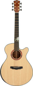 Musical Instruments:Acoustic Guitars, 2012 Laurie Williams Tui Natural Acoustic Guitar, Serial #12165.. ...