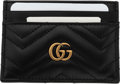 """Luxury Accessories:Accessories, Gucci Black Quilted Leather GG Marmont Card Case. Condition: 1. 4"""" Width x 2.75"""" Height x 0.5"""" Depth. ..."""