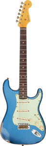 Musical Instruments:Electric Guitars, 2011 Fender Stratocaster '60 Relic Lake Placid Blue Solid Body Electric Guitar, Serial #R57389.. ...