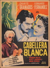 "Caballera Blanca (Azteca Films, 1950). Rolled, Fine+. Mexican One Sheet (27.25"" X 37"") Vargas Artwork. Foreign..."