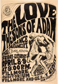 """Music Memorabilia:Posters, FD-4 Love, Charlatans, Sons of Adam 1966 """"Dirty Old Man"""" Family Dog Concert Poster...."""