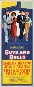 """Movie Posters:Musical, Guys and Dolls (MGM, 1955). Folded, Fine/Very Fine. Insert (14"""" X 36""""). Musical.. ..."""