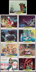 """Movie Posters:Animation, Peter Pan (Buena Vista, R-1969). Very Fine-. Lobby Card Set of 9 (11"""" X 14""""). Animation.. ... (Total: 9 Items)"""
