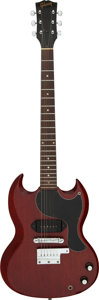 Musical Instruments:Electric Guitars, 1966 Gibson SG Jr. Cherry Solid Body Electric Guitar, Serial #540312.. ...
