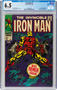 Iron Man #1 (Marvel, 1968) CGC FN+ 6.5 Off-white to white pages
