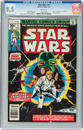 Bronze Age (1970-1979):Superhero, Star Wars #1 (Marvel, 1977) CGC VF+ 8.5 White pages....