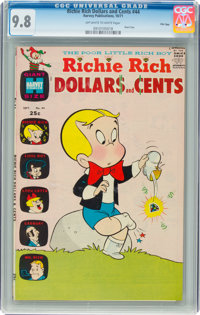 Richie Rich Dollars and Cents #44 File Copy (Harvey, 1971) CGC NM/MT 9.8 Off-white to white pages
