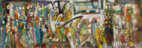 Endre Rozsda (Hungarian/French, 1918-1999) Untitled Oil on canvas 11-7/8 x 35-1/2 inches (30.2 x