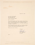 Explorers:Space Exploration, Gordon Cooper Typed Letter Signed. ...