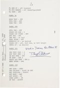 Explorers:Space Exploration, Apollo 11 Crew: Training-Used Launch Operations Checklist Page Originally from the Personal Collection of Mission Lunar Module...