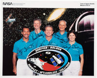 Space Shuttle Discovery (STS-31) Crew-Signed Color Photo Directly from the Personal Collection of Mission Spec