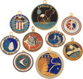 Explorers:Space Exploration, Apollo and Skylab: Souvenir Color Enamel Charms (Nine) All Directly from the Personal Collection of Astronaut Bruce McCandles...