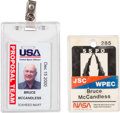 Explorers:Space Exploration, Bruce McCandless II: Two Personal Identification Badges Directly from His Personal Collection. ... (Total: 2 Items)