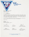 Explorers:Space Exploration, Bruce McCandless II: His NASA Safety Reporting System Patch with Transmittal Letter Directly from His Personal Collection.