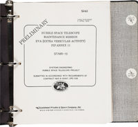 [STS-31] Hubble Telescope Guidebook in Original Binder Directly from the Personal Collection of Mission Specialist Bruce...