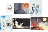 Tim Burton's The Nightmare Before Christmas Giclée Suite in Case Limited Edition #266/315 (Touchstone/Disney, 200...