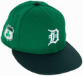 Baseball Collectibles:Hats, 2017 Al Kaline St. Patrick's Day Used Hat....