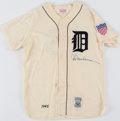 Autographs:Jerseys, 1945 Hal Newhouser Signed Replica Jersey. ...