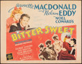 """Movie Posters:Musical, Bitter Sweet (MGM, R-1962). Rolled, Fine/Very Fine. Half Sheet (22"""" X 28""""). Musical.. ..."""