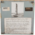 Explorers:Space Exploration, Cape Canaveral Launch Complex 34 (LC-34): Large and Heavy Section of the Tower Made into a Plaque. ...