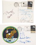 "Explorers:Space Exploration, Apollo 11 Crew-Signed ""Type Three"" Insurance Cover with Mission Insignia Cachet, Presented by Buzz Aldrin to a Family Member ..."