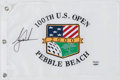 Golf Collectibles:Autographs, 2000 Tiger Woods Signed U.S. Open Pebble Beach Flag....