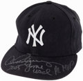 Baseball Collectibles:Hats, 2005 Alex Rodriguez Game Worn & Signed New York Yankees Hat. ...