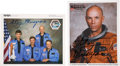 Explorers:Space Exploration, Story Musgrave Signed Orange Spacesuit Color Photos (Two). ... (Total: 2 Items)