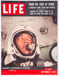"Explorers:Space Exploration, David G Simons Signed Lithograph Cover of the September 2, 1957, LIFE Magazine, ""From The Ed..."