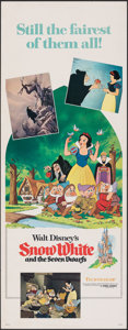 """Movie Posters:Animation, Snow White and the Seven Dwarfs (Buena Vista, R-1975). Rolled, Fine/Very Fine. Insert (14"""" X 36""""). Animation.. ..."""