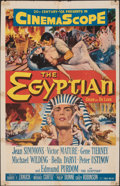 """Movie Posters:Drama, The Egyptian & Other Lot (20th Century Fox, 1954). Folded, Fine+. One Sheets (2) (27"""" X 41"""") & Lobby Card Set of 8 (11"""" X 14... (Total: 10 Items)"""