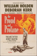 """Movie Posters:War, The Proud and Profane & Other Lot (Paramount, 1956). Folded, Overall: Very Fine-. One Sheets (3) (27"""" X 41""""). War.. ... (Total: 3 Items)"""