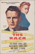 """Movie Posters:Drama, The Rack & Other Lot (MGM, 1956). Folded, Fine/Very Fine. One Sheet, International One Sheet (27"""" X 41""""), Half Sheet (22"""" X ... (Total: 4 Items)"""