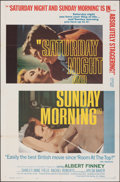"Movie Posters:Drama, Saturday Night and Sunday Morning & Other Lot (Continental, 1961). Folded, Very Fine-. One Sheets (2) (27"" X 41""). Drama.. ... (Total: 2 Items)"