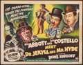 """Movie Posters:Comedy, Abbott and Costello Meet Dr. Jekyll and Mr. Hyde (Universal International, 1953). Rolled, Fine. Half Sheet (22"""" X 28"""") Style..."""