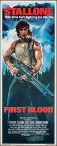 "Movie Posters:Action, First Blood (Orion, 1982). Rolled, Very Fine/Near Mint. Insert (14"" X 36""). Drew Struzan Artwork. Action.. ..."