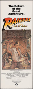 "Movie Posters:Adventure, Raiders of the Lost Ark (Paramount, R-1982). Rolled, Very Fine. Insert (14"" X 36""). Richard Amsel Artwork. Adventure.. ..."