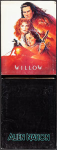 """Movie Posters:Fantasy, Willow & Other Lot (MGM, 1988). Fine/Very Fine. Presskits (2) (9"""" X 12"""" & 9"""" X 11.5"""") with Photos (10) (8"""" X 10"""") and Produc... (Total: 2 Items)"""