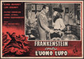"Movie Posters:Horror, Frankenstein Meets the Wolf Man (IPC, 1949). Fine/Very Fine. First Release Italian Photobusta (18.75"" X 13.25"") & Lobby Card... (Total: 2 Items)"