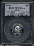 Proof Roosevelt Dimes: , 1998-S Silver PR 70 Deep Cameo PCGS. ...