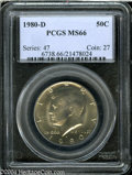 Kennedy Half Dollars: , 1980-D MS66 PCGS. ...
