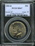 Kennedy Half Dollars: , 1985-D MS67 PCGS. ...