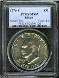 Eisenhower Dollars: , 1976-S Silver MS67 PCGS. ...