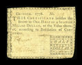 Colonial Notes:Georgia, Georgia 1776 $1/2 Fine....
