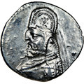 Ancients:Oriental, Ancients: PARTHIAN KINGDOM. Mithradates III (ca. 87-80 BC). AR drachm (20mm, 12h). NGC XF. ...