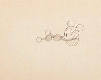 Steamboat Willie Mickey Mouse Animation Drawing with Dave Smith Letter (Walt Disney, 1928).... (Total: 2 Items)