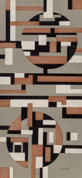 Works on Paper, Sandu Darie (1908-1991). Untitled, circa 1950s. Ink and collage on paper. 18-1/2 x 8-3/4 inches (47.0 x 22.2 cm) (overal...