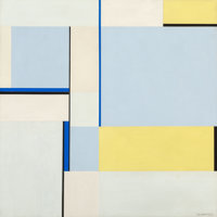 Ilya Bolotowsky (1907-1981) Square in Three Blues (79-109), 1979 Acrylic on canvas 30 x 30 inches